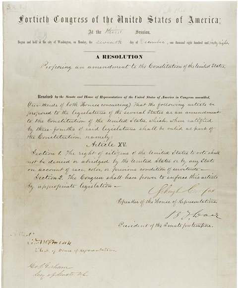 African Americans and the 15th Amendment - Constitutional